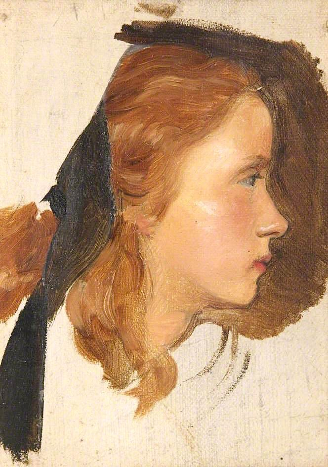 Girls Head | John Everett Millais | oil painting