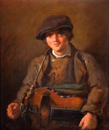 Hurdy Gurdy Boy   John Everett Millais   oil painting