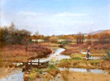 Lingering Autumn | John Everett Millais | oil painting