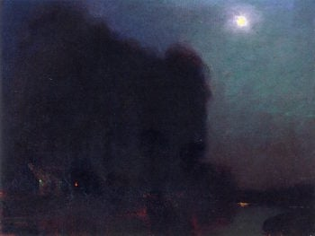 Moonlit Landscape | Charles Rollo Peters | oil painting