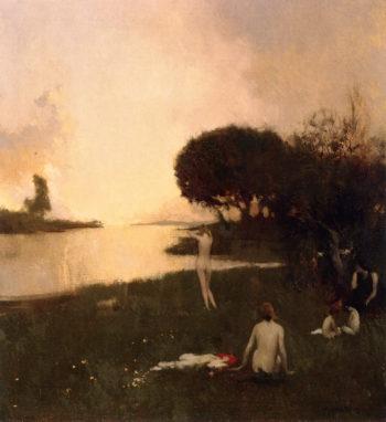 Nudes in the Landscape   Arthur Matthews   oil painting
