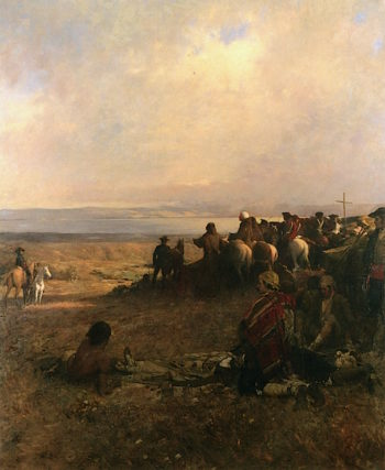 Discovery of the Bay of San Francisco by Portolá   Arthur Matthews   oil painting