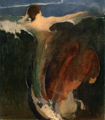 The Wave   Arthur Matthews   oil painting