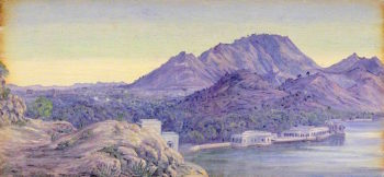 Ajmere. India. Decr. 1878 | Marianne North | oil painting