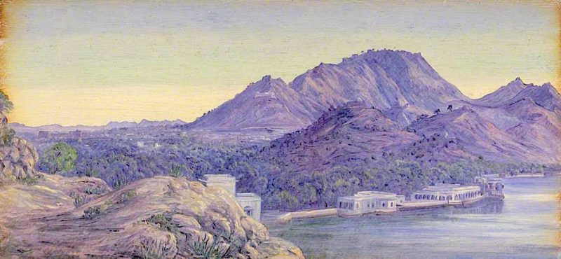Ajmere. India. Decr. 1878   Marianne North   oil painting