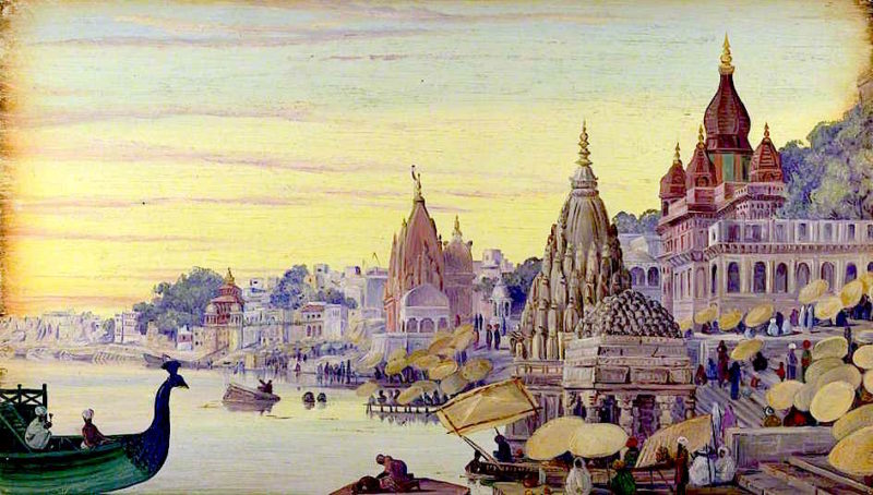Benares. India. Novr. 1878   Marianne North   oil painting