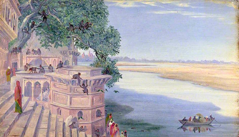 Bindrabun. India. Novr. 2d 1878 | Marianne North | oil painting