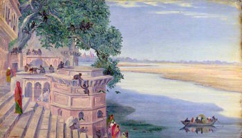 Bindrabun. India. Novr. 2d 1878 | Marianne North | oil painting