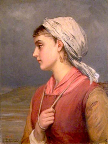 A Fishergirl | Charles Sillem Lidderdale | oil painting