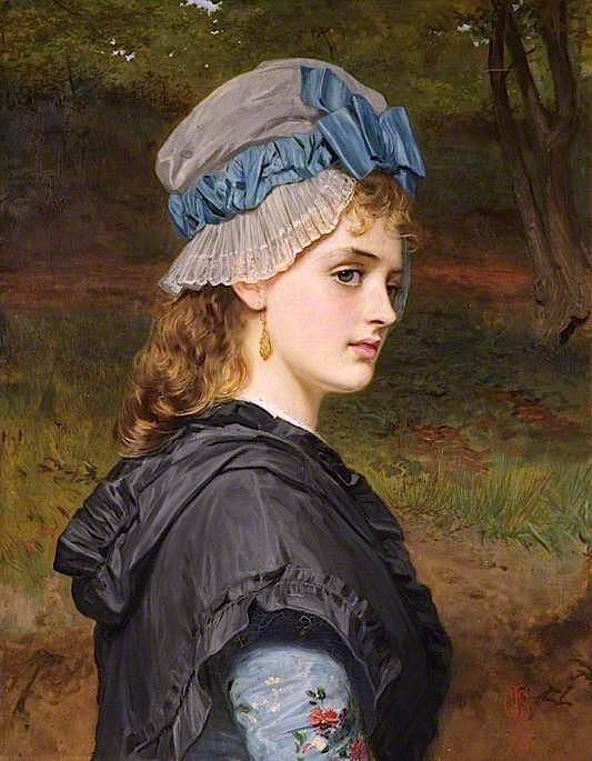 A Girls Head | Charles Sillem Lidderdale | oil painting