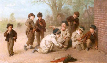 Boys Playing | John Morgan | oil painting