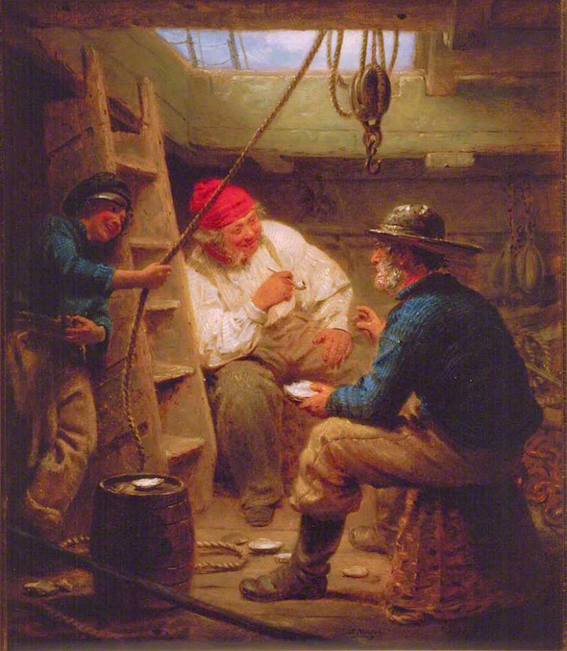 Gossip in the Hold | John Morgan | oil painting