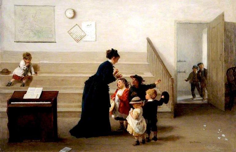 Interior of a Village School | John Morgan | oil painting