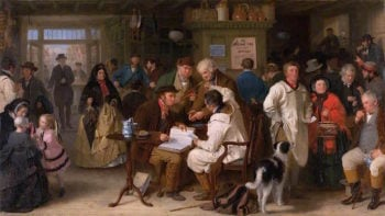The Income Tax – Day of Appeal | John Morgan | oil painting