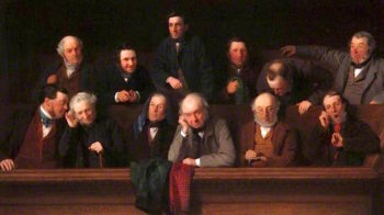 The Jury | John Morgan | oil painting