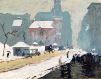 Park Street Church in Winter | Arthur Clifton Goodwin | oil painting