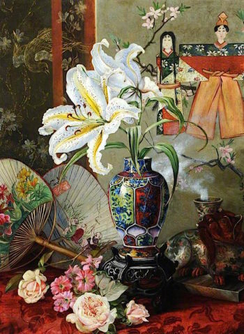 Japan | Marianne North | oil painting