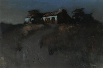 Adobe on a Hill | Charles Rollo Peters | oil painting
