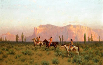 Indians in the Desert | Charles Dorman Robinson | oil painting