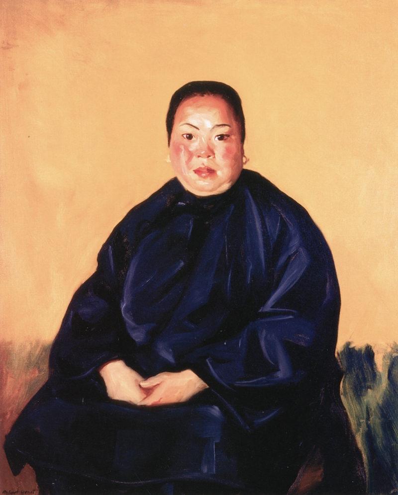 Chinese Lady   Robert Henri   oil painting