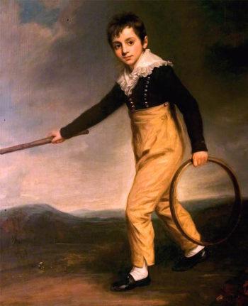 Boy with a Hoop | John Opie | oil painting