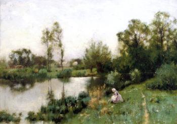 River Landscape | Bruce Crane | oil painting