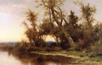 The Rivers Edge   Albert Babb Insley   oil painting