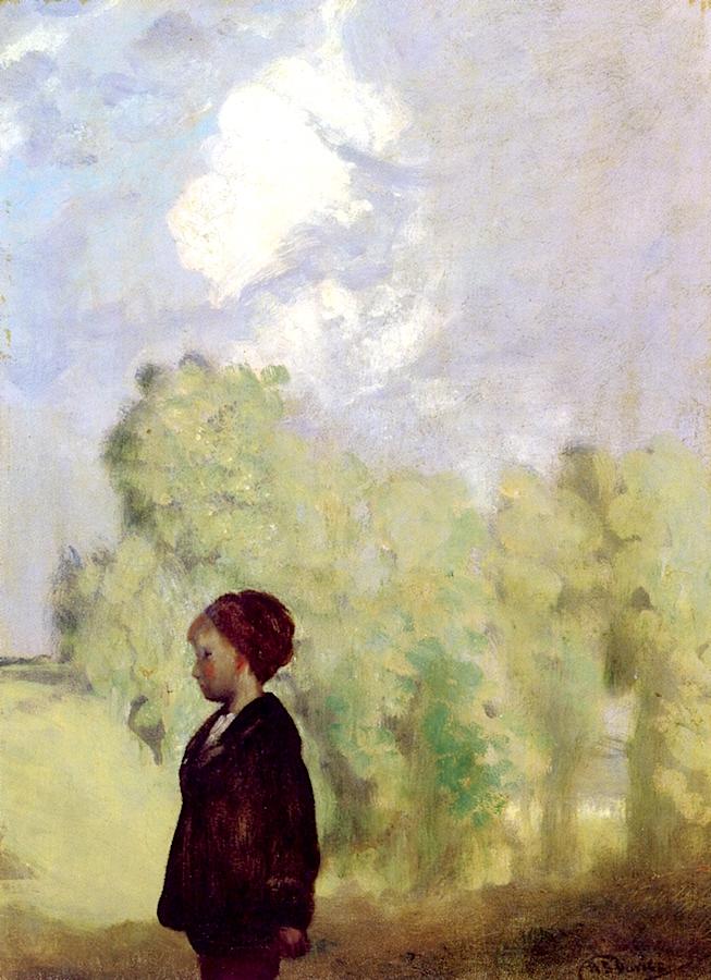 Little David - After the Rain | Arthur B. Davies | oil painting