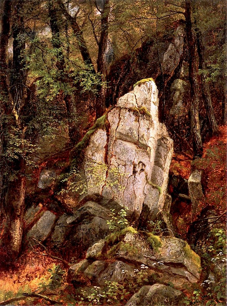 Rocks in Pearsons Ravine | Asher Brown Durand | oil painting