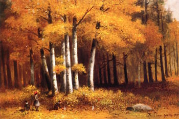 A Walk in the Woods | Benjamin Champney | oil painting