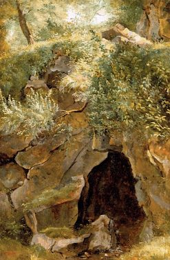 The Cave | Theodore Rousseau | oil painting