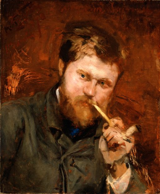 Man Smoking a Pipe | Jean-Alexandre-Joseph Falguiere | oil painting