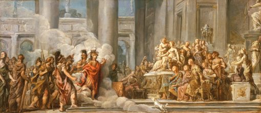The Arrival of Aeneas in Carthage | Jean Bernard Restout | oil painting