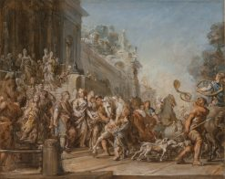 The Departure of Dido and Aeneas for the Hunt | Jean Bernard Restout | oil painting