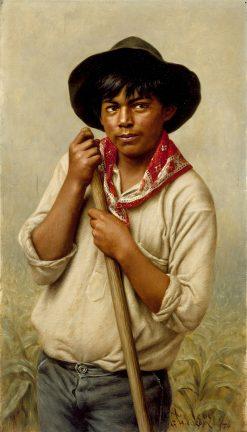Powley -  Young Man Hoeing Corn | Grace Carpenter Hudson | oil painting