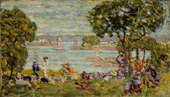 Monterey Coast -  17 Mile Drive | Maurice Prendergast | oil painting