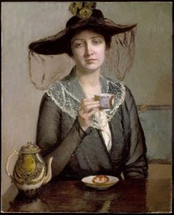 A Cup of Tea | Lilla Cabot Perry | oil painting
