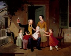 A Visit from Grandfather | James Goodwyn Clonney | oil painting