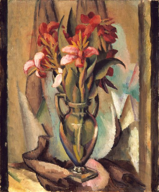 Flowers in a Handled Vase | Middleton Manigault | oil painting