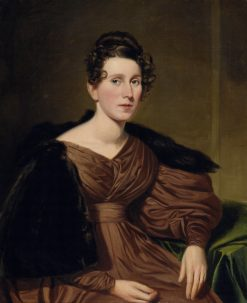 Portrait of a Lady   Charles Loring Elliott   oil painting