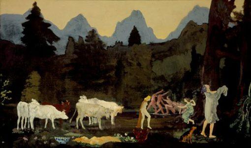 Pastoral Dells and Peaks | Arthur B. Davies | oil painting