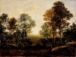 Landscape with Trees | Ralph Albert Blakelock | oil painting
