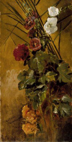 Hollyhocks | Ross Sterling Turner | oil painting