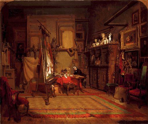 An Artists Studio | John Ferguson Weir | oil painting