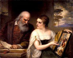 Philosophy and Christian Art | Daniel Huntington | oil painting