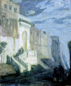 Moonlight -  Walls of Tangiers | Henry Ossawa Tanner | oil painting