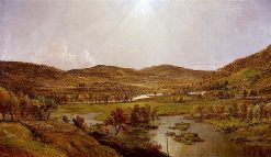 Sidney Plains with the Union of the Susquehanna and Unadilla Rivers | Jasper Francis Cropsey | oil painting