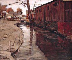 Mill - Race | Jonas Lie | oil painting
