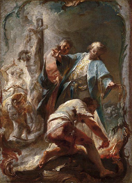Jacobs Ladder | Johann Wolfgang Baumgartner | oil painting