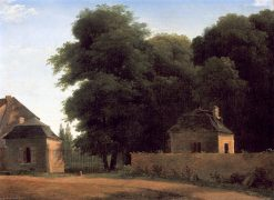 Entry to the Park at St. Cloud | Jean-Victor Bertin | oil painting